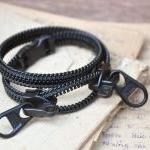 Mens bracelets, zipper jewe..